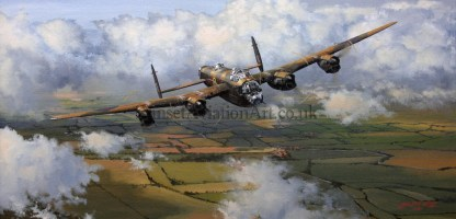 Avro Lancaster Long Mission Ahead Birthday card