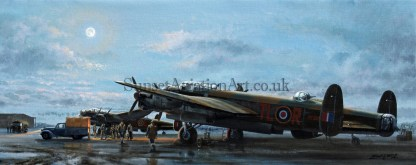 Aviation Avro Lancaster card Ops On Time to Go