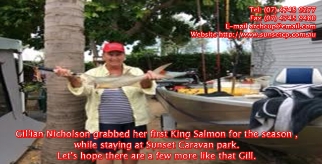 Gillian-Nicholson-grabbed-her-first-King-Salmon-for-the-season-while-staying-at-Sunset-Caravan-park