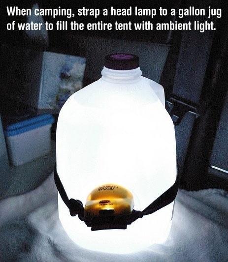 Create a makeshift lantern
