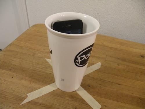 Create a makeshift music speaker