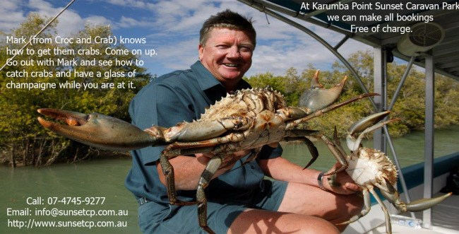 Karumba Crab Karumba Point Sunset Caravan Park Accommodation