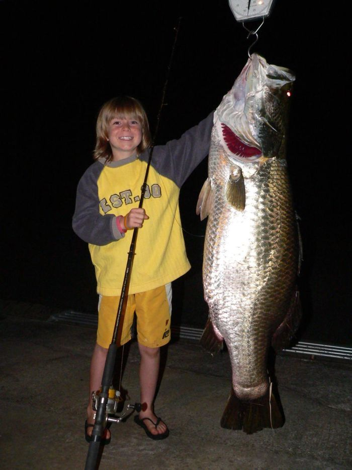 Nine-year-old-Riley-Vallance-with-his-big-barramundi-catch
