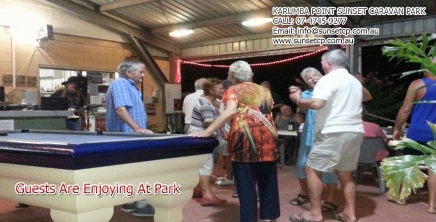 Guests Are Enjoying Best Time At Park Karumba Point Sunset Caravan Park