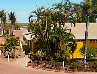 A Beautiful View of Park from Above Karumba Point Sunset Caravan Park