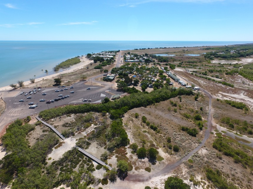 Breath Taking View of Karumba Point Just Covering Top View of Karumba Point Sunset Caravan Park Gulf of Carpentaria