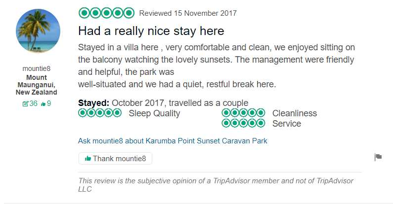 Tripadvisor 15 Nov 2017 Had a really nice stay here