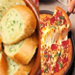 BUY 1 PIZZA WITH A GARLIC BREAD