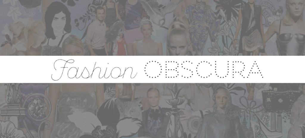 Fashion Obscura: Introduction