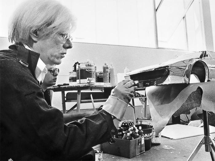 Warhol at work.