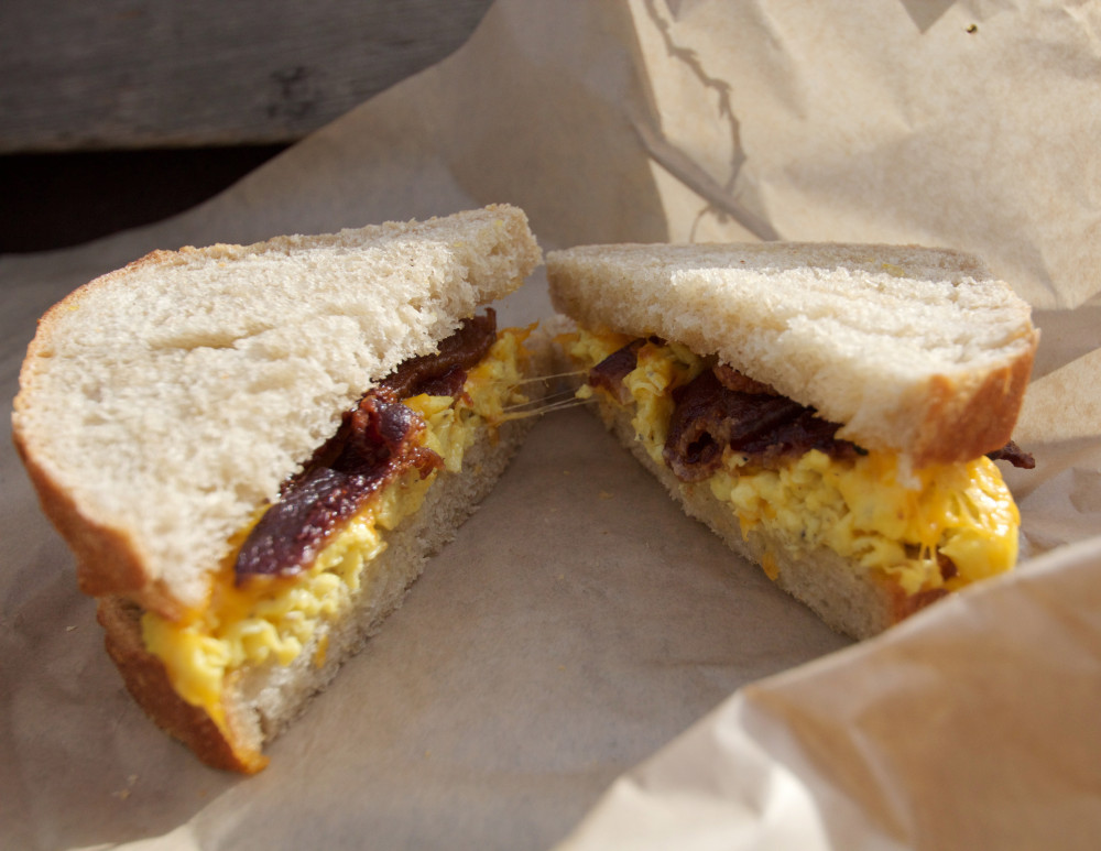 The coveted breakfast sandwich sans the famous biscuit