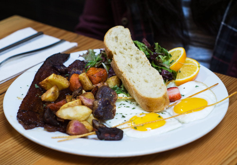 The Egg Dish and Millionaire's Bacon