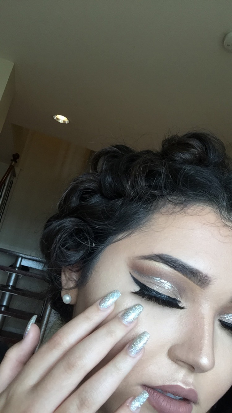 My prom makeup up close and personal.