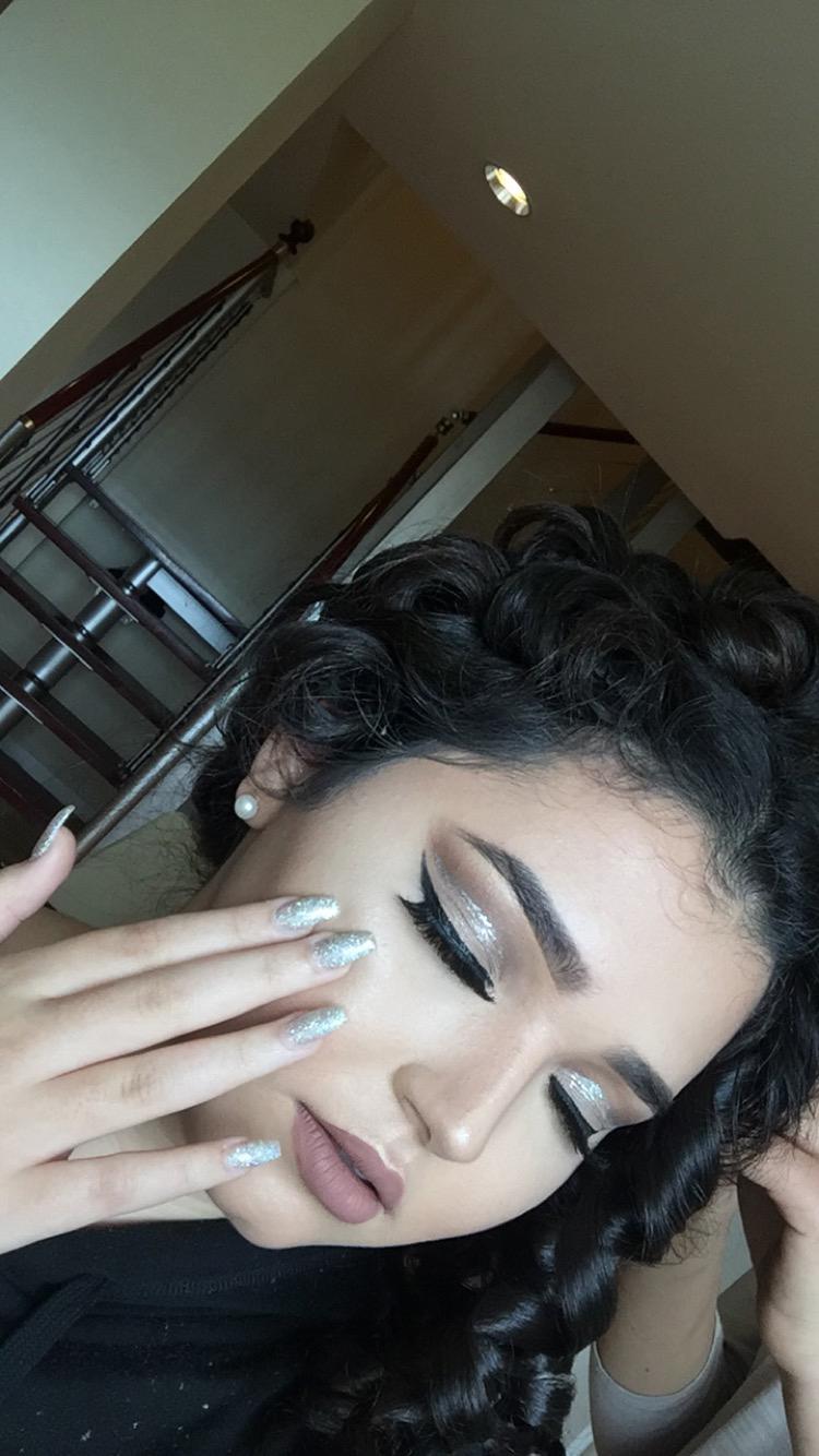 My prom makeup.