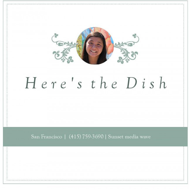 Here's the Dish: Intro