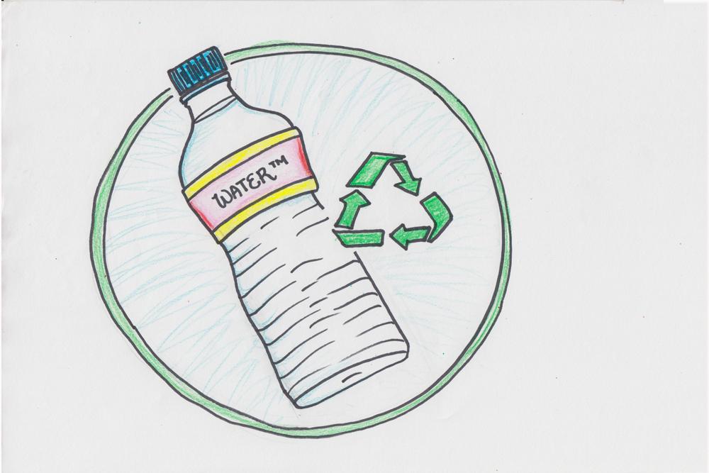 Follow the Yellow Brick Road: Plastic Water™ Bottle