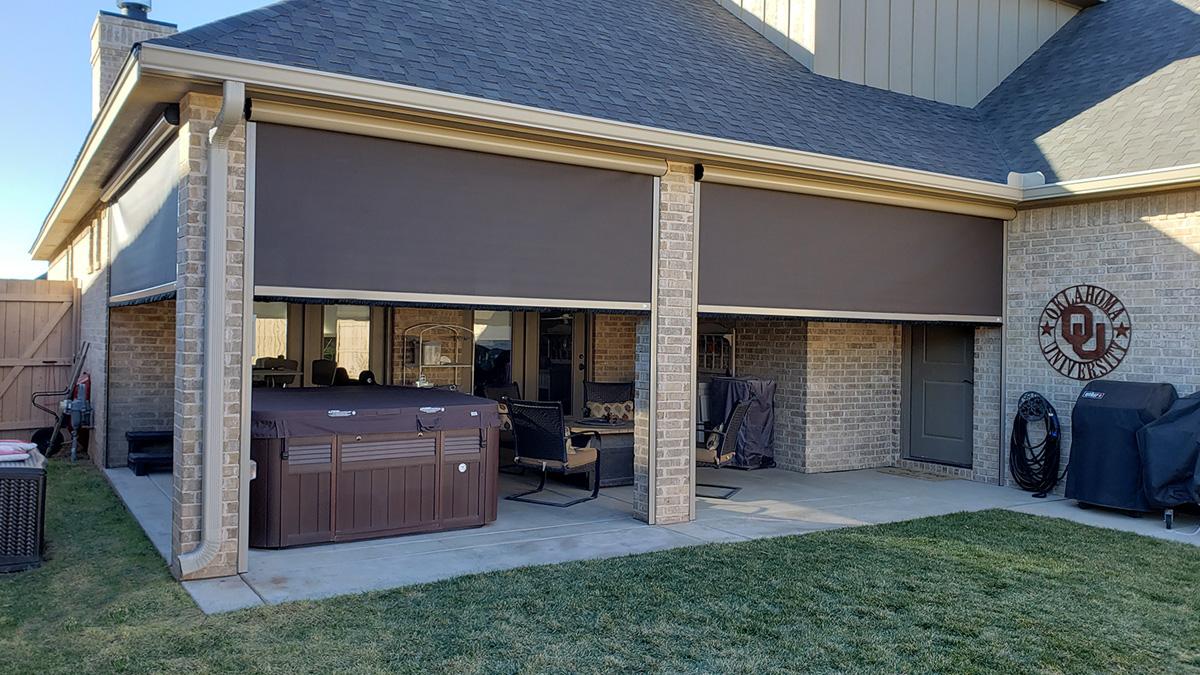 motorized patio screens retractable