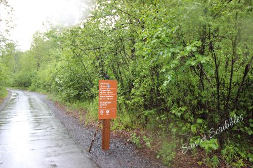 Exit Glacier trail sign - AK