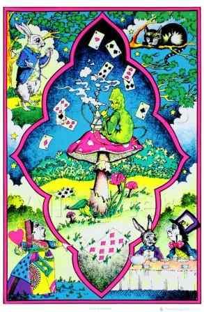 Wonderland Caterpillar Blacklight Poster