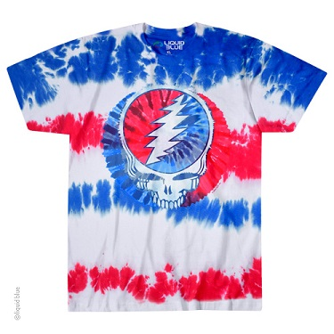 Grateful Dead American Steal Your Face Tie Dye T Shirt