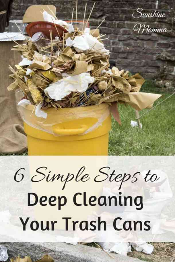 6 Simple Steps to Deep Cleaning Your Trash Cans