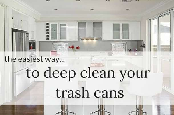 The Easiest Way TO Deep Clean Your Trash Cans
