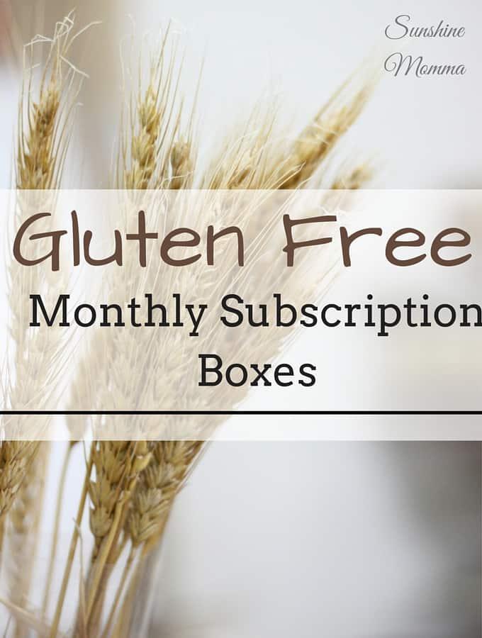 Gluten Free Subscription Boxes - Sunshine Momma