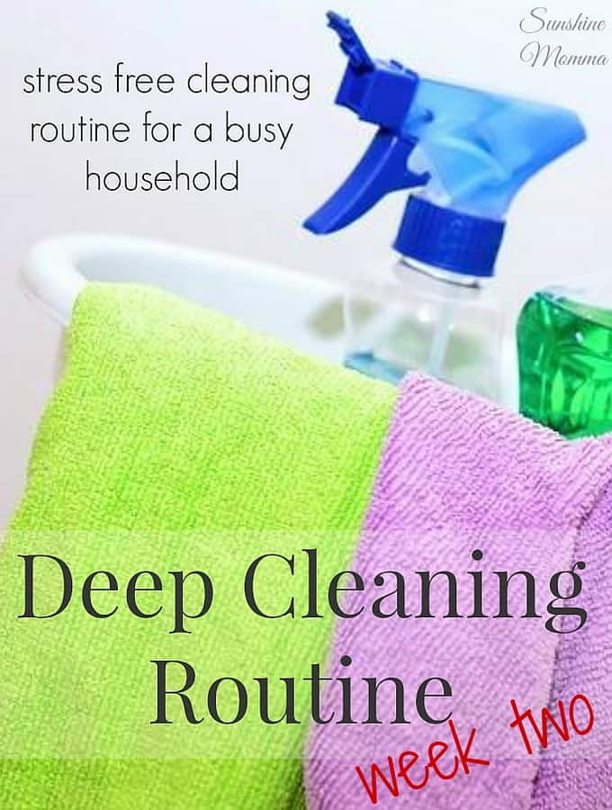 Stress Free Deep Cleaning Routine (Week Two)