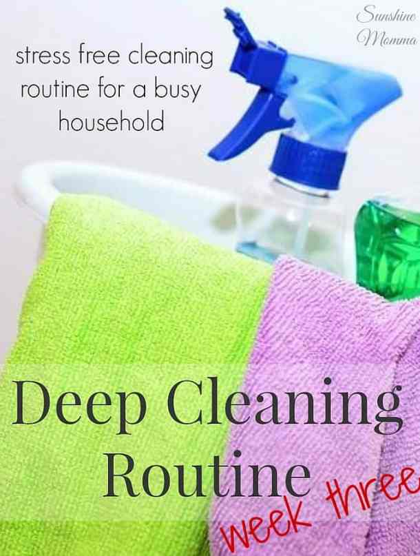 Stress Free Deep Cleaning Routine Week 3