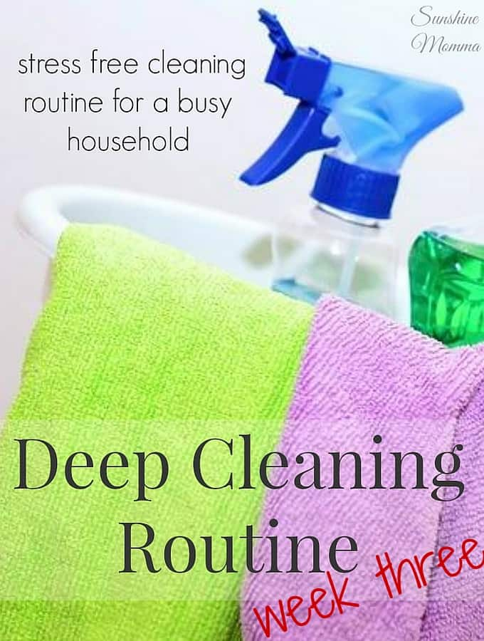 Stress Free Deep Cleaning Routine (Week Three)