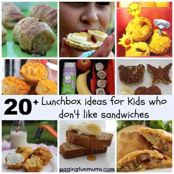 No Sandwich Lunch Ideas
