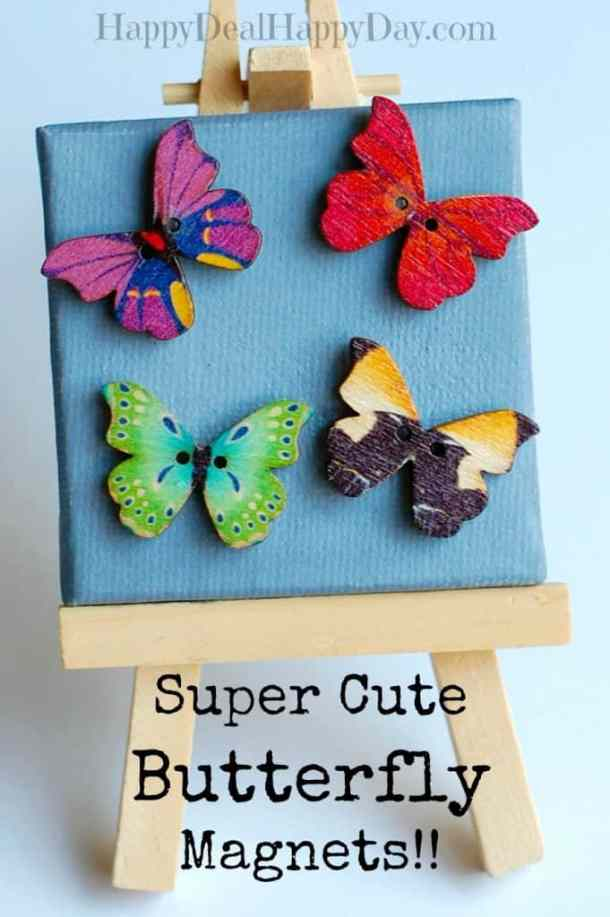 DIY Butterfly Magnets