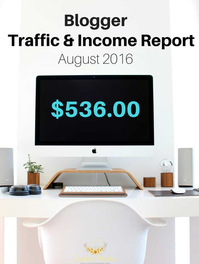 August 2016 Blogger Traffic & Income Report