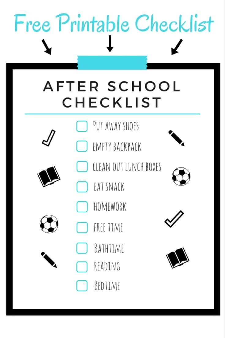 image relating to After School Schedule Printable named The moment Faculty Program for Youngsters - Solar Momma