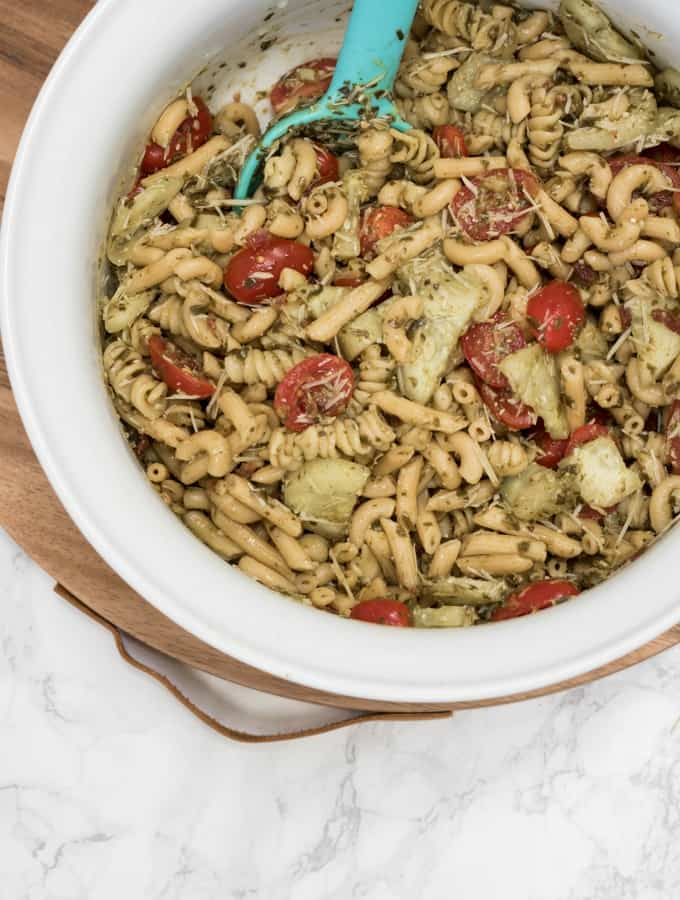 Light Pesto Pasta Salad