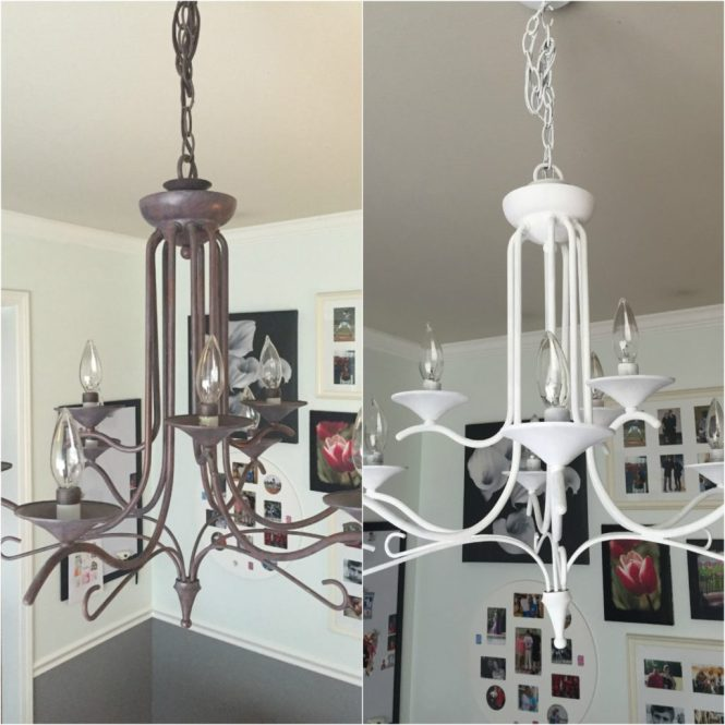 Sunshinetulip Chalk Paint Chandelier