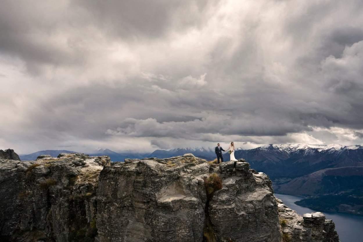 mountain top weddig ceremony