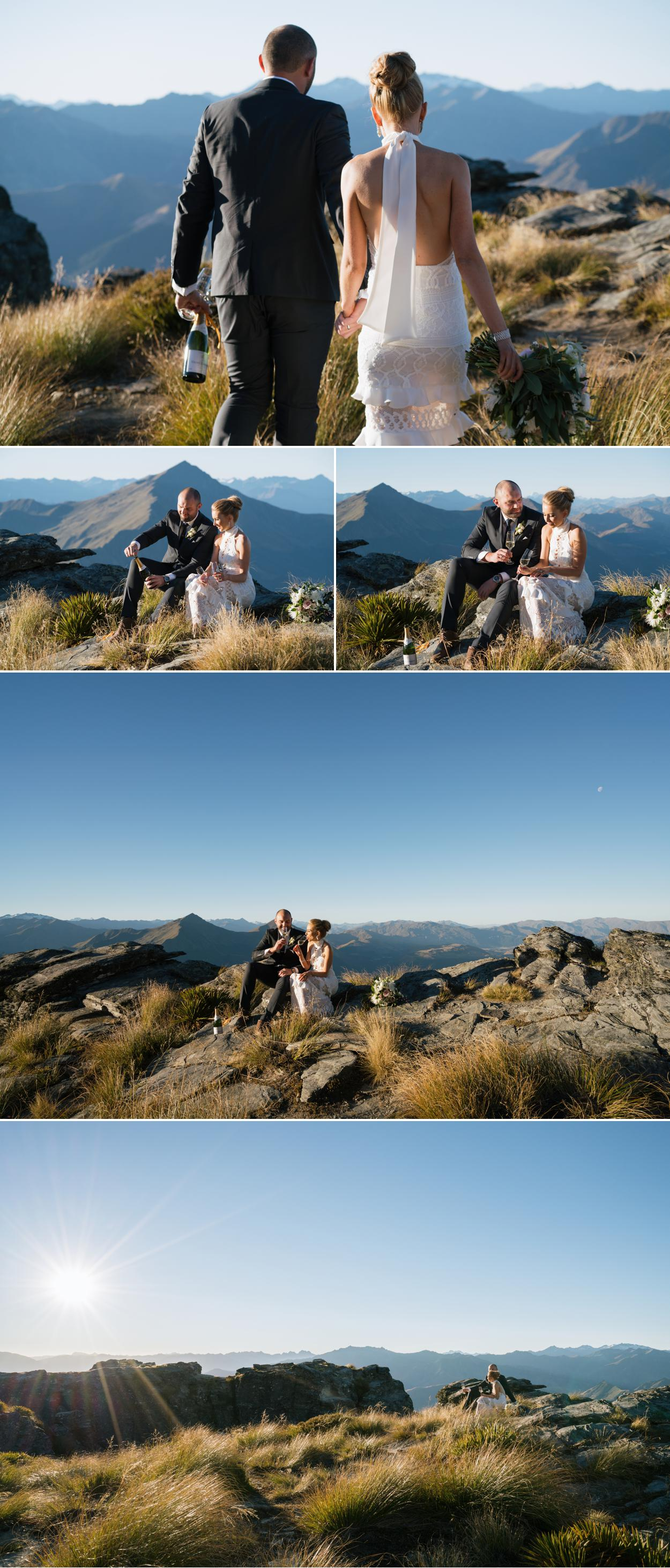 Helicopter wedding ceremony Queenstown