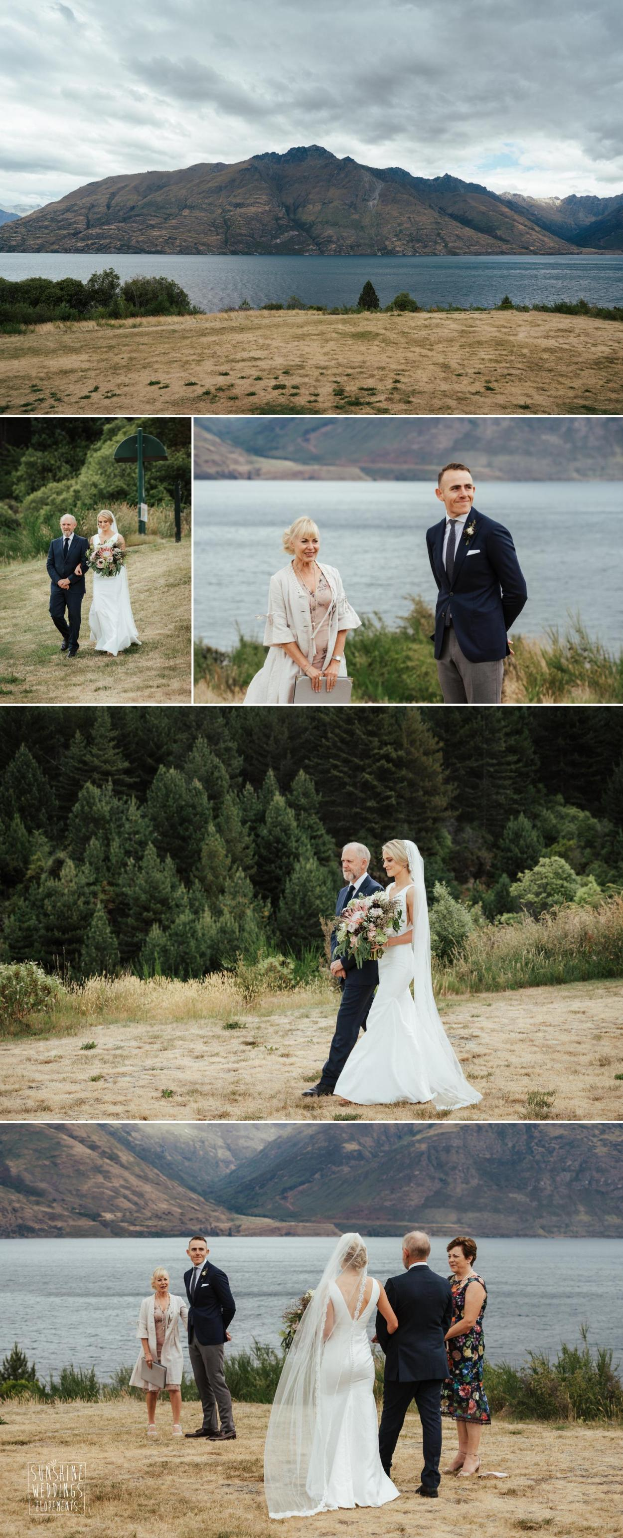 Queenstown lake ceremony
