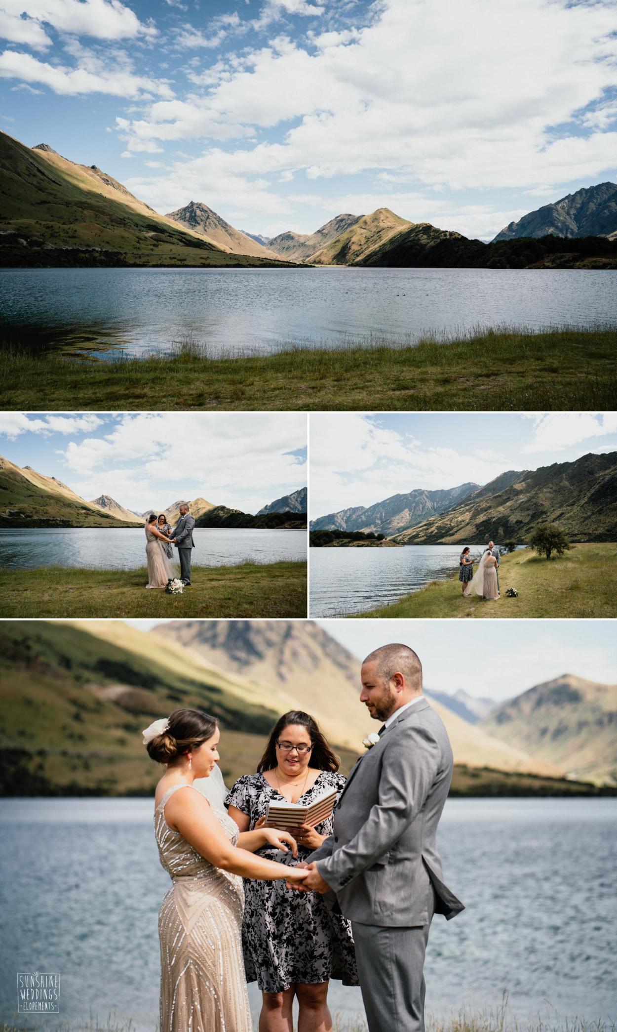 Moke Lake wedding ceremony