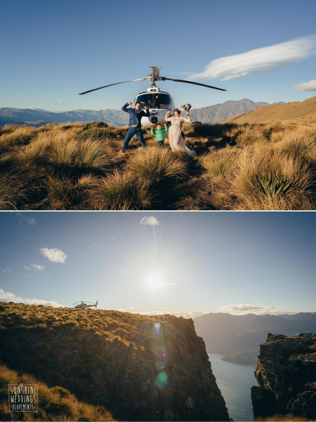 Heliworks mountain wedding Queenstown