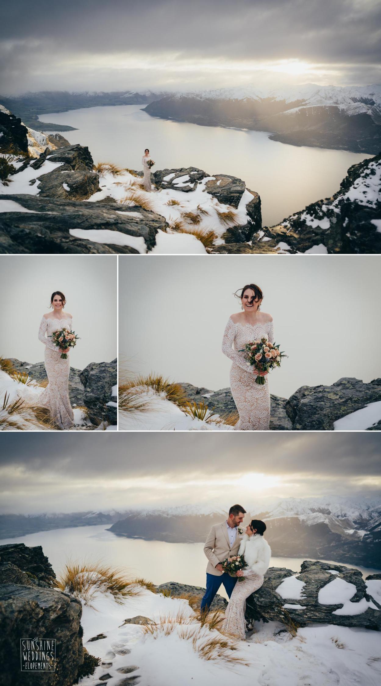 Snow mountain weddings