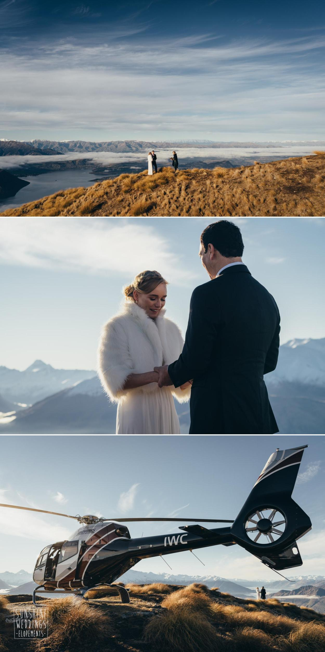 Coromandel Peak heli wedding