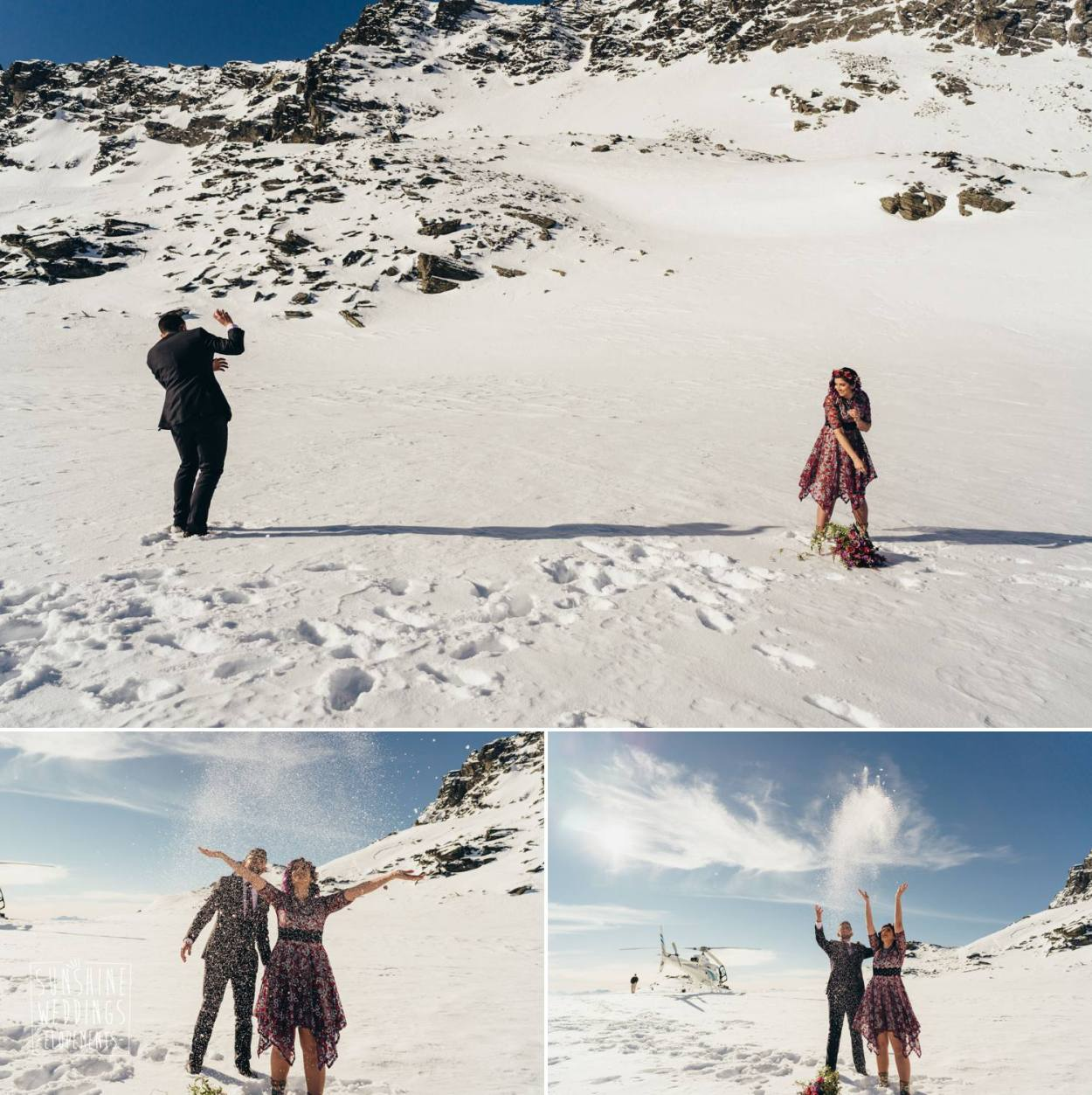 mountain wedding in New Zealand