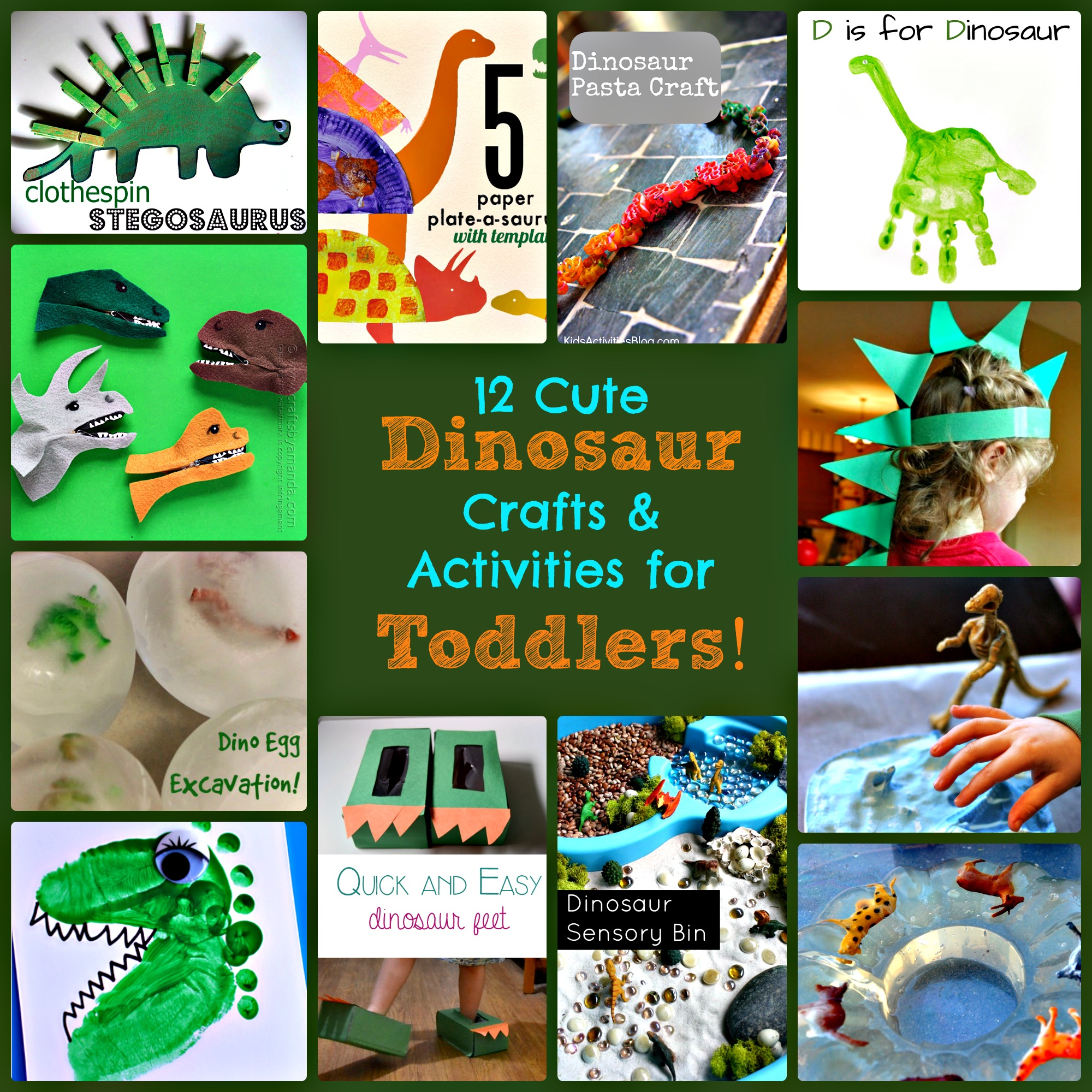 12 Cute Dinosaur Crafts And Activities For Toddlers