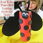 Easy Toilet Paper Roll Ladybug Crafts for Kids