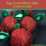 Egg Carton Glitter Apple Crafts for Kids
