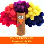 Pom Pom Toilet Paper Roll Turkey Crafts for Kids
