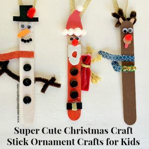 christmas craft stick ornament crafts for kids