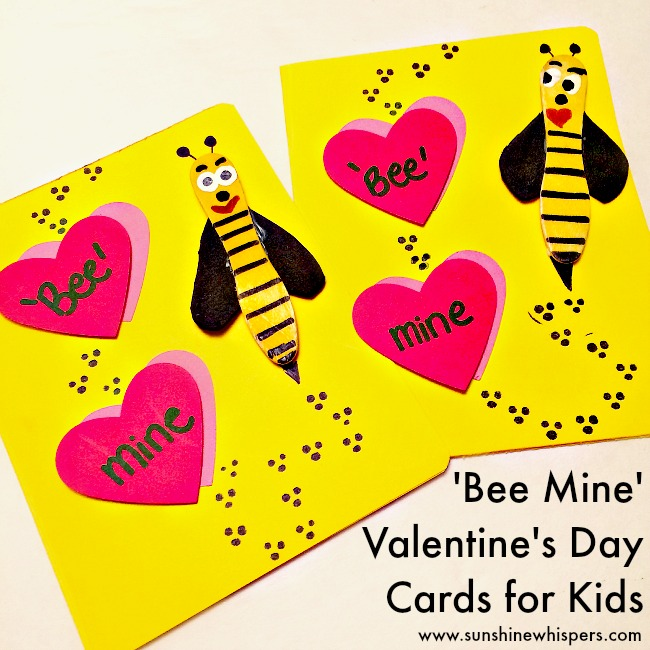 ValentinesDay Archives Sunshine Whispers – Bee Mine Valentine Card